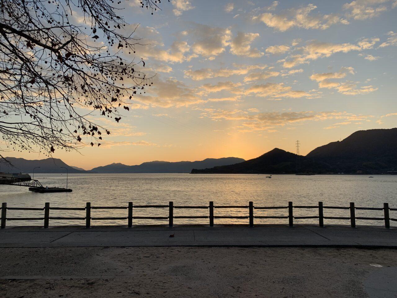 大久野島の朝焼け